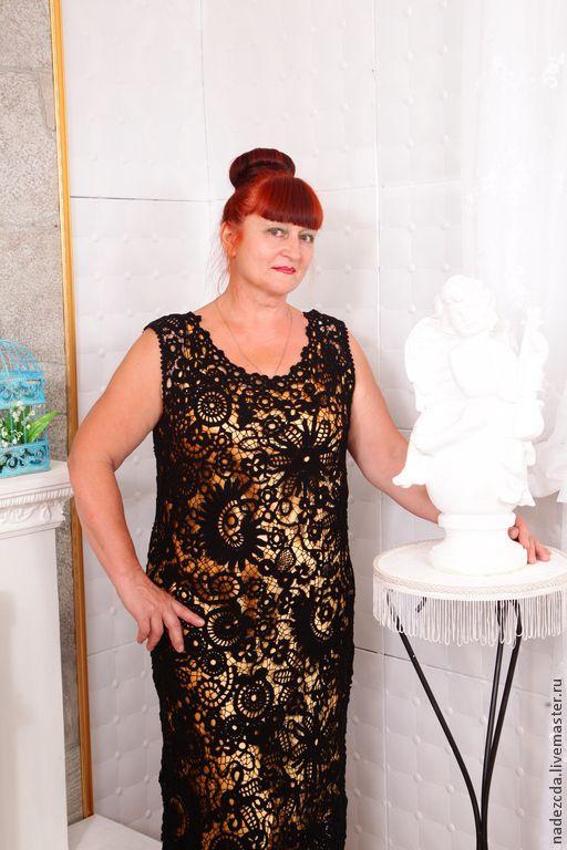 """Купить Платье """" Шанель"""" - черный, цветочный, ирландское кружево, ирландское вязание, ирландские кружева"""