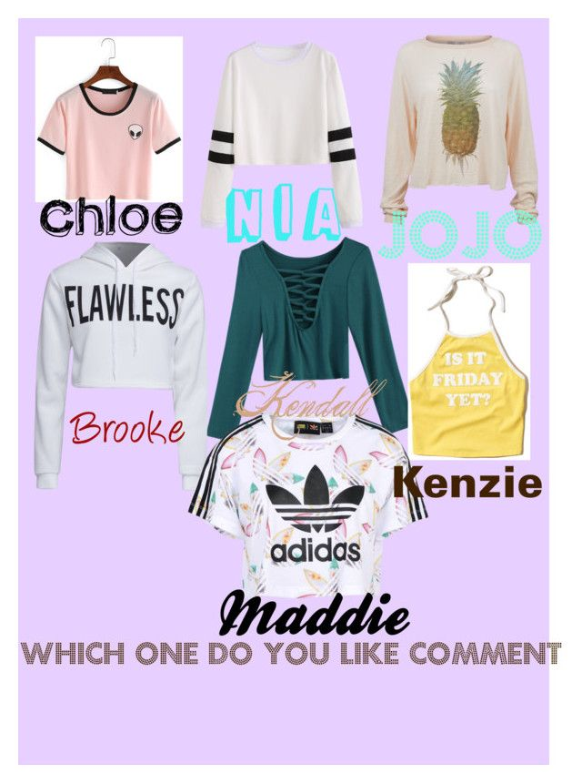 """Which one"" by breonnaurspringer on Polyvore featuring Hollister Co., WithChic, Wildfox and adidas Originals"