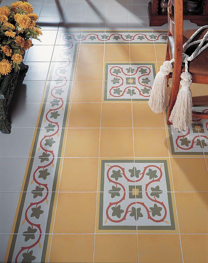 1900 Gaudi tile, Vives ceramica #tiles #vives