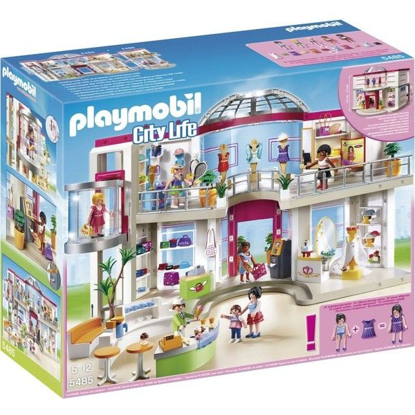PLAYMOBIL Shopping centre set (3,410 MXN) ❤ liked on Polyvore featuring toys