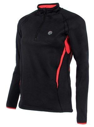 Running jack, hardloopshirt met lange mouwen. Long sleeve running jacket, black red.