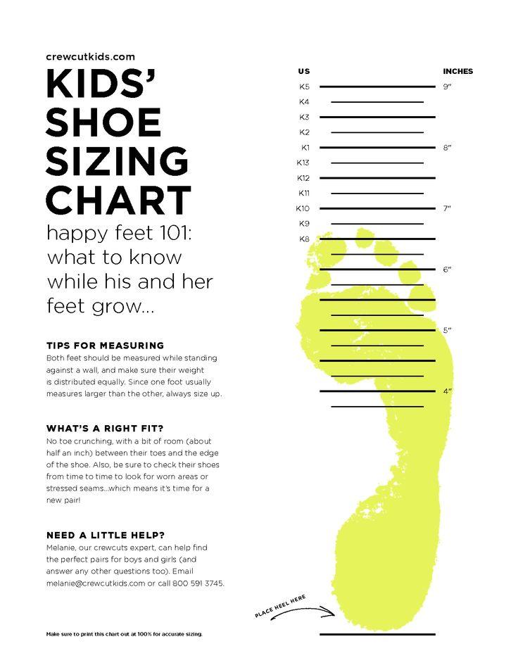 scope of work template Kids Pinterest Shoe size