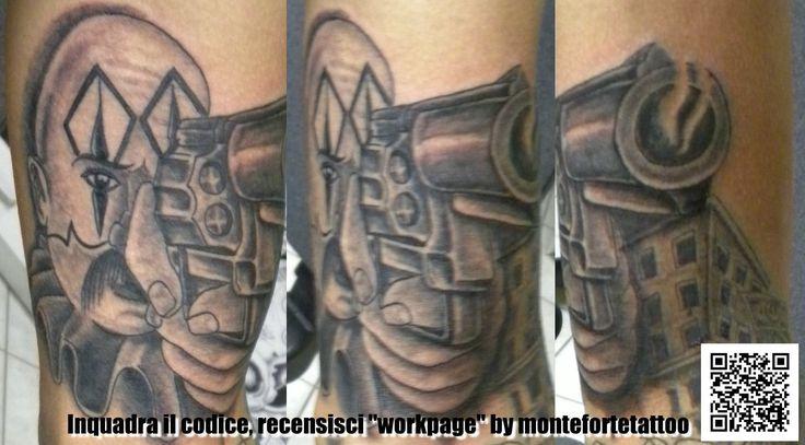 #gangsta #chicano #grigio&nero #tatuaggio #montefortetattoo2016