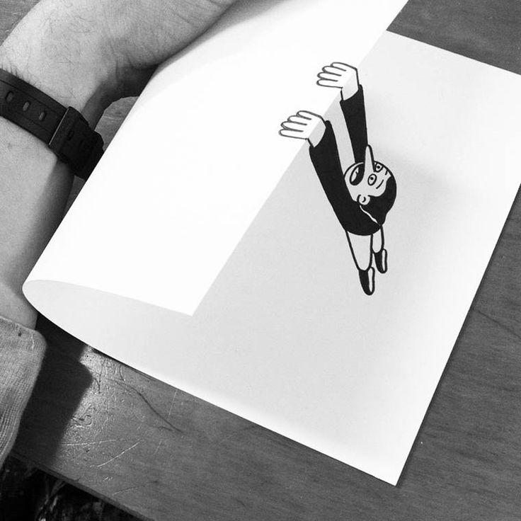 HuskMitNavn est un artiste danois basé à Copenhague qui aime les illustrations et le pliage. Découvrez cette série de dessins plus vrais que nature.