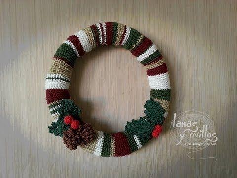 ▶ Tutorial Corona Navideña Crochet Paso a Paso en Español - YouTube