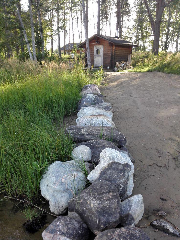 Summer and sauna by the lake in Viitasaari, Finland.