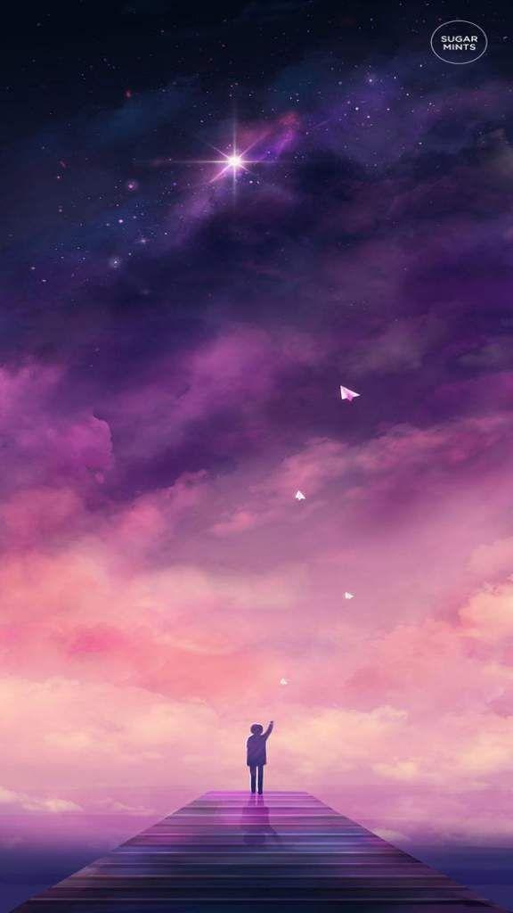 Iphone Xs Space Wallpaper Hd 2019 Nr156 Anime Scenery Galaxy