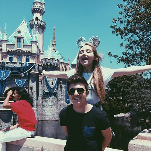 Photo: Sabrina Carpenter With Bradley Steven Perry At Disneyland Resort May 3, 2015 - Dis411