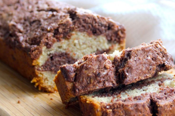 Chocolate Marble Cake 'Marbré au Chocolat' [Vegan]   One Green Planet. Relatively simple to make and has straightforward ingredients.