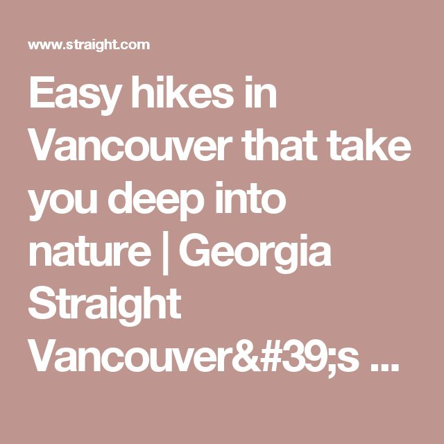 Easy hikes in Vancouver that take you deep into nature   Georgia Straight Vancouver's News & Entertainment Weekly