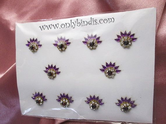 Purple Bindi Jewelry Crystals. Stunning by BindiStoreUSACANADA, $14.99  Bindi Store in Sweden. Buy Bindis in Sweden.