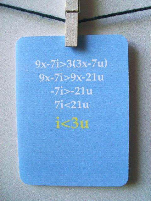 Horray for math jokes/love cards