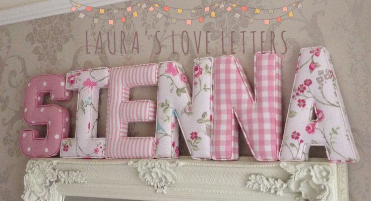 Fabric letters Wall Art Handmade Padded, Nursery, name, personalised, girl, boy…