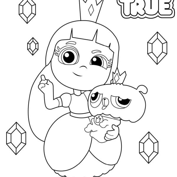 True And The Rainbow Kingdom Coloring Pages True And Bartleby Line Drawing Free Printable Col Coloring Pages Printable Coloring Pages Free Printable Coloring