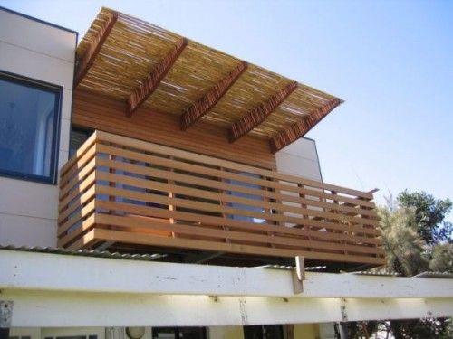 minimalist wooden balcony
