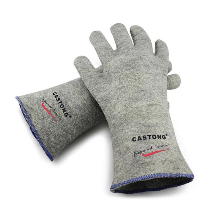 CASTONG 300 Degree Industrial Heating Gloves High Temperature Fire Gloves Fireproof Working Gloves Sale - Banggood.com
