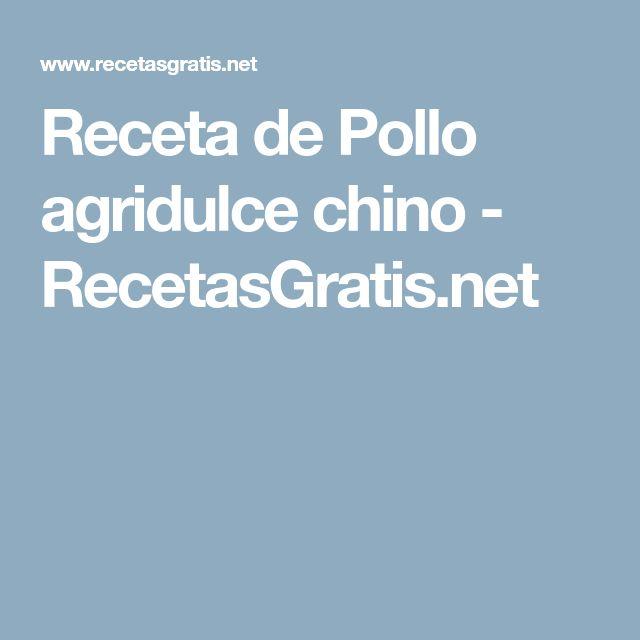 Receta de Pollo agridulce chino - RecetasGratis.net