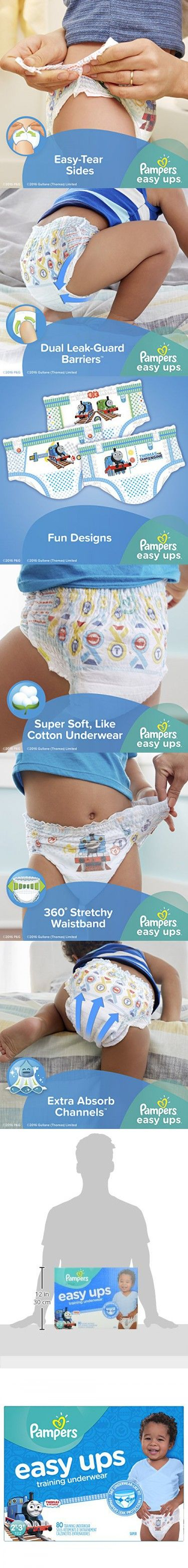 Pampers Easy Ups Training Underwear Boys 2T-3T (Size 4), 80 Count