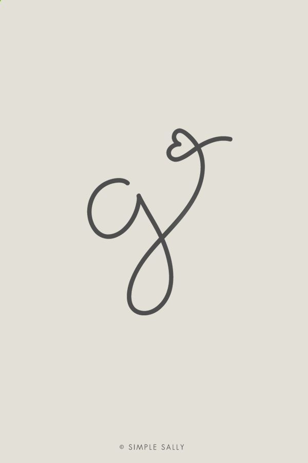 Simple   Fun Designs | letter G initial | #initials #simplesally #forphotographers #design