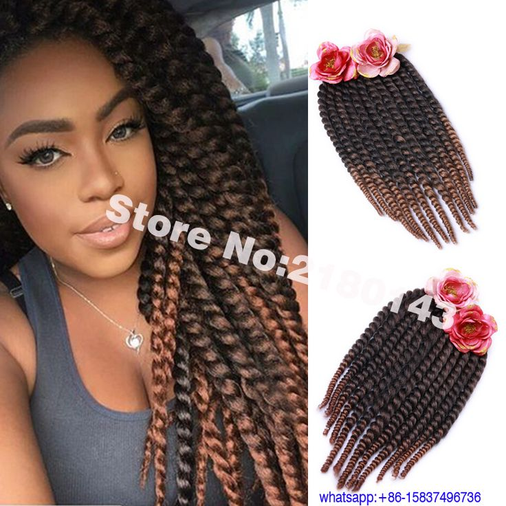 Ombre Synthetic Braiding Hair 6 Packs 18 Inch Havana Mambo Twist Hair 2x Crochet Braids Hair Extensions Ombre Jumbo Braids Hair US $22.88 - 31.68