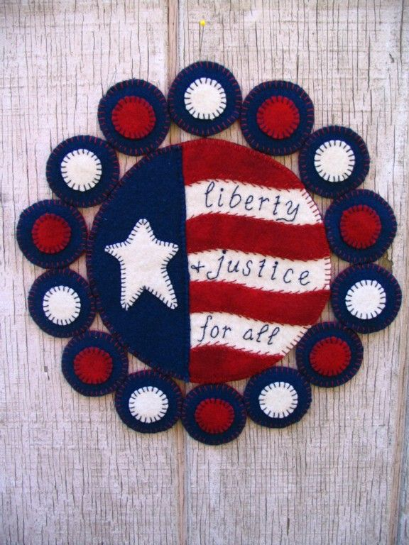 Liberty and Justice for All Penny Rug Pattern