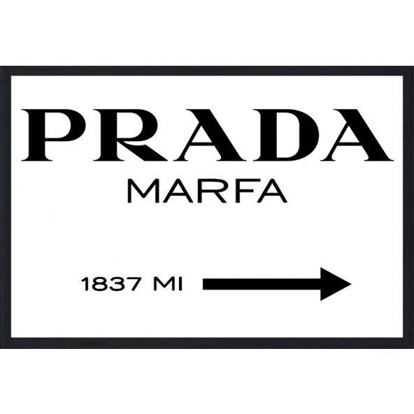 Prada Marfa Sign Wall Art #pradawallart #pradaart #pradamarfa