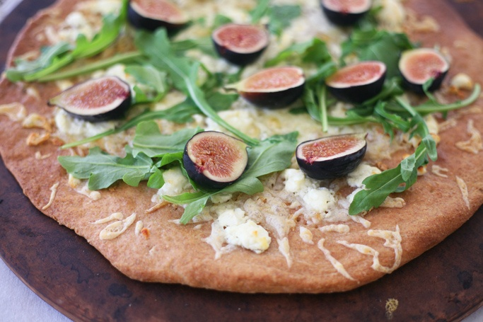 Goat Cheese Arugula Fig Pizza | Pizza and Bread | Pinterest
