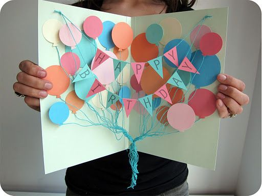 Happy Birthday Banner Card with balloons -- one of my absolute favorite card projects. I've tried it as a congratulations card too!