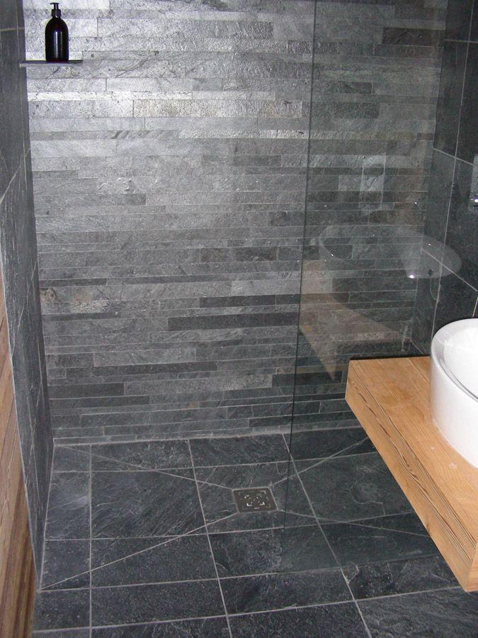 carrelage ardoise salle de bain