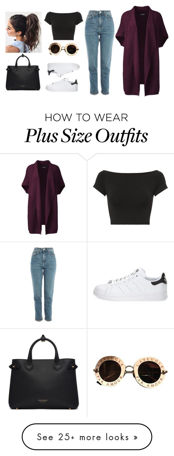"""""""W o r k"""" by i-m-penguin-purple974 on Polyvore featuring Lands' End, Helmut Lang, Topshop, adidas, Gucci, Burberry, class, Guess and plus size clothing"""