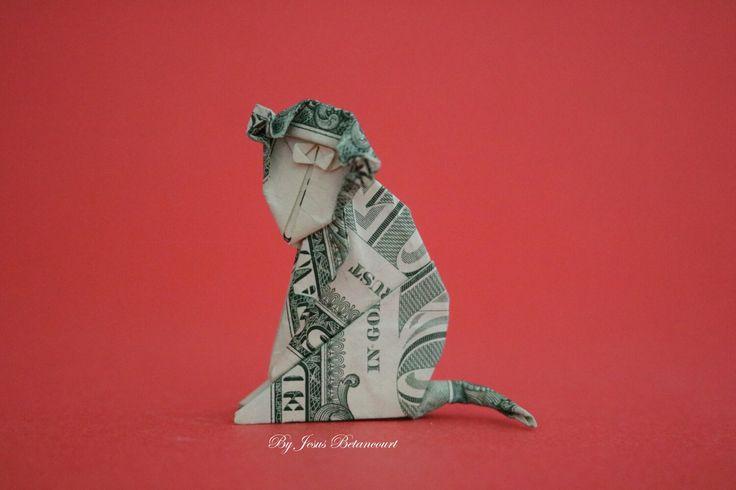 Dollar Origami Monkey