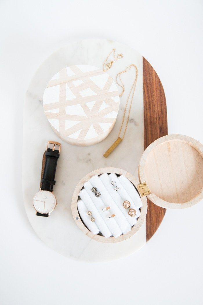 DIY Wooden Jewelry Box -