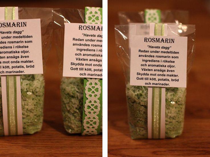 HUR MAN GÖR EGET ROSMARINSALT - Made by Mary