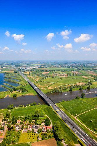 Maasbrug, Empel, Noord-Brabant. The Netherlands
