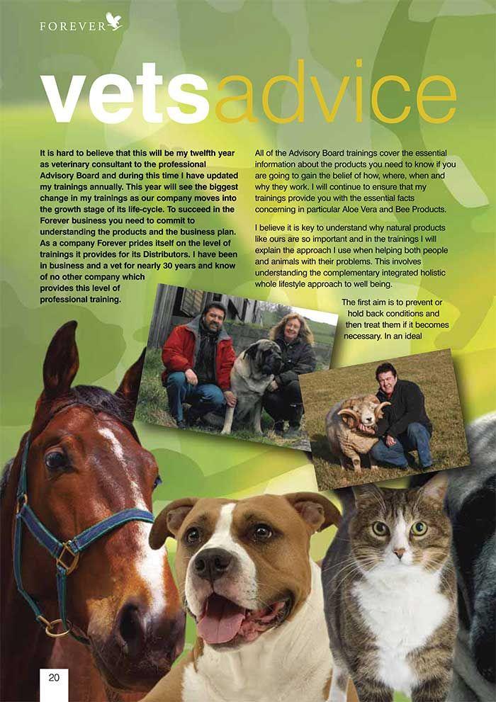 Forever living for animals: www.kimandterry.myforever.biz