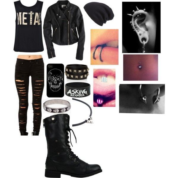 liking some not all of the piercings Outfit / style / emo / punk / rock