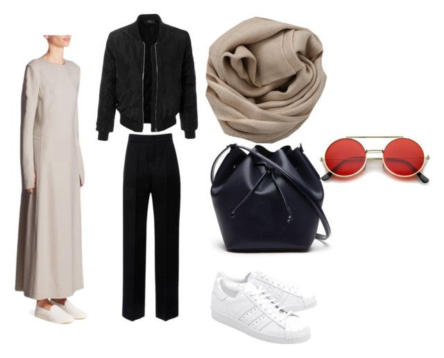 winter by emaabdi on Polyvore featuring Calvin Klein Collection, LE3NO, Lanvin, adidas Originals, Lacoste, Brunello Cucinelli and ZeroUV