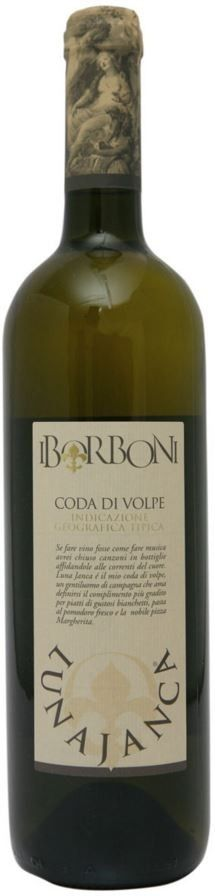CODA DI VOLPE P.G.I. WHITE #WINE LUNA JANCA - I BORBONI  Wine produced in purity, the gold color light straw, with good acidity and sensations of salty and spicy on the palate.