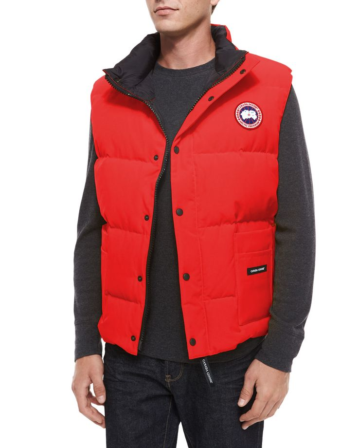 Canada Goose Vest Men Freestyle Nero