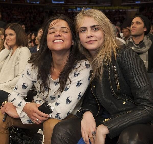Cara Delevingne and Michelle Rodriguez perfect because both of them are the girls I love