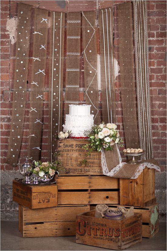 Burlap + Lace Wedding Decor