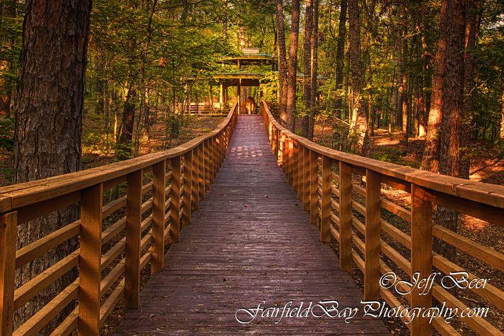 Church Gazebo Walkway at the United Methodist Church in Fairfield Bay, Arkansas - Fairfield Bay Photography