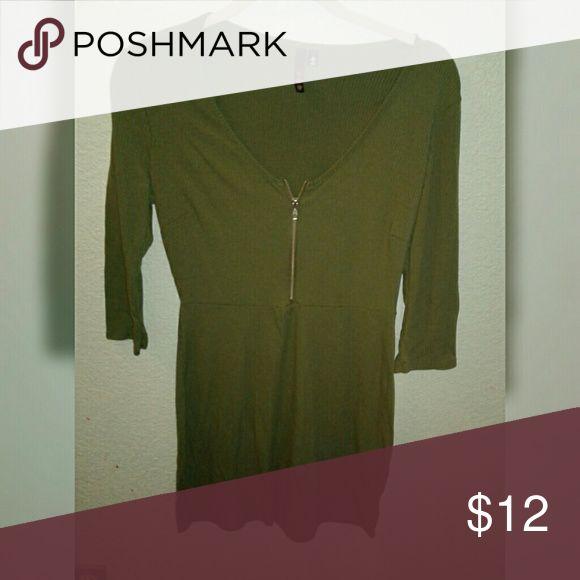 Army green dress Cute mini dress. 3/4 sleeves. Army Green Dresses Midi