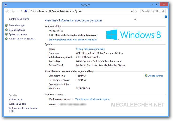 Windows 8 activation using product key