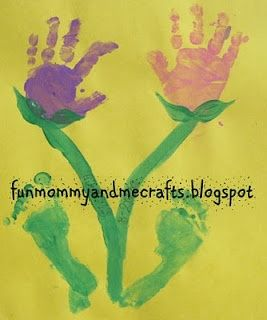 Hand and Foot Print Flowers for Spring! crafts