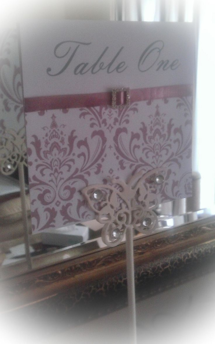 One of our bespoke table numbers (this one is in dusky pink)