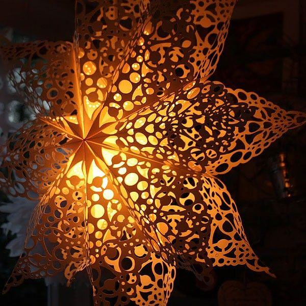 Lace Doily Paper Star Lantern
