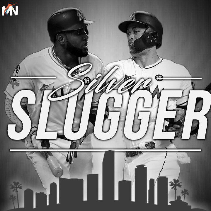 "417 Likes, 4 Comments - #LetsGoFish🐠 (@marlinsnetwork) on Instagram: ""2 Silver Slugger Awards belong to @giancarlo818 and @thebigbear13ozuna 🔥 _ Follow @marlinsnetwork…"""