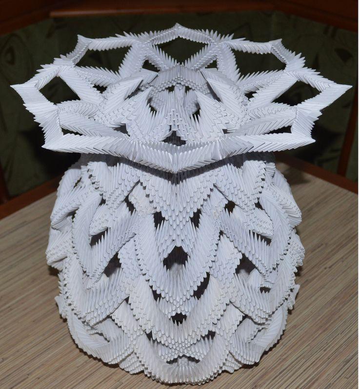 3D ОРИГАМИ ВАЗА 3D Origami Vase - YouTube