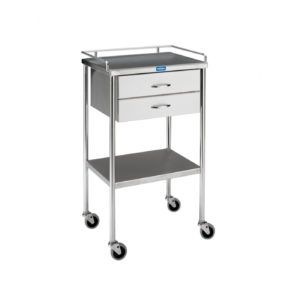 Stainless Steel Rolling Cart 3 Shelf With Drawer Innovative